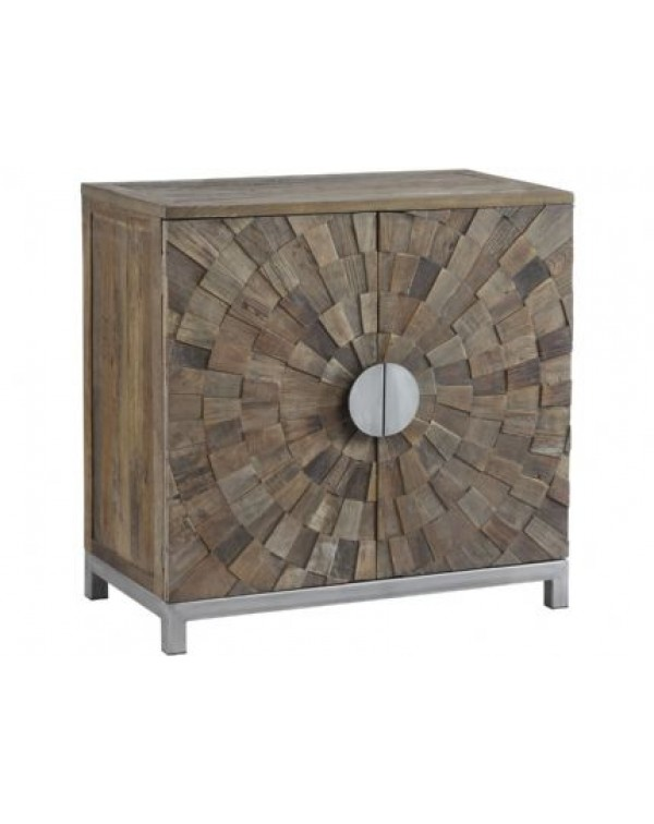 Libra Talquin Recycled Elm And Iron Cabinet